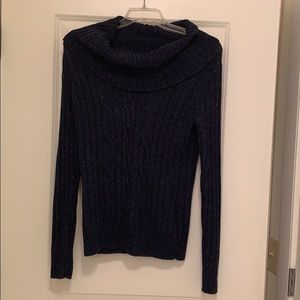 Cowl Neck Cable Sweater from Bass
